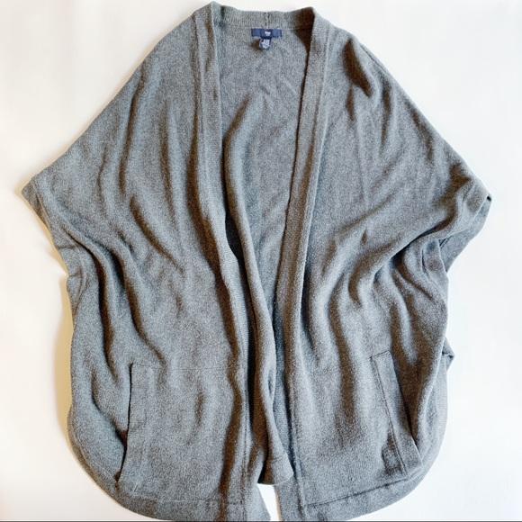 GAP Sweaters - GAP Gray Dolman Sleeve Open Cardigan Pockets XS S